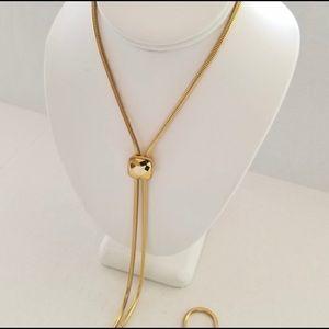 NWOT | Michael Kors| Gold Slider Pendant Necklace